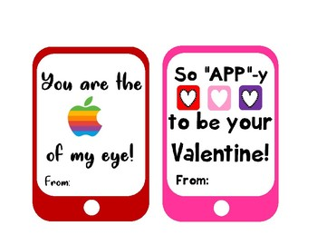 Technology Themed Valentines