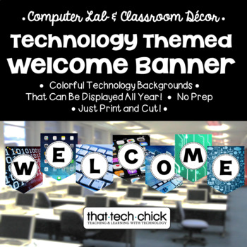 Technology Themed Welcome Banner
