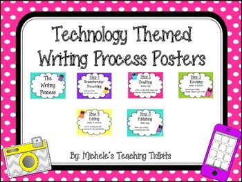 Writing Process Posters: Technology Themed