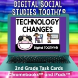 Technology Then and Now Digital Social Studies Toothy® Task Cards | Digital Game