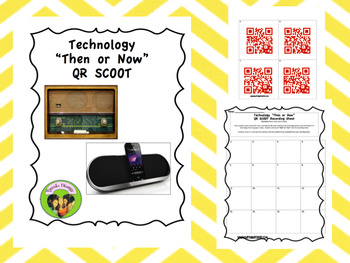 """Technology """"Then or Now"""" QR SCOOT"""