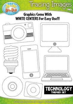 Technology Tracing Image Clipart {Zip-A-Dee-Doo-Dah Designs}