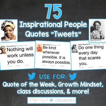 Twitter Social Media Theme Quote of the Week 44 Inspirational People Tweets