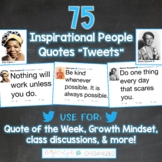 Twitter Social Media Theme Quote of the Week 45 Inspirational People Tweets