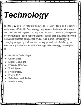Technology Unit Study