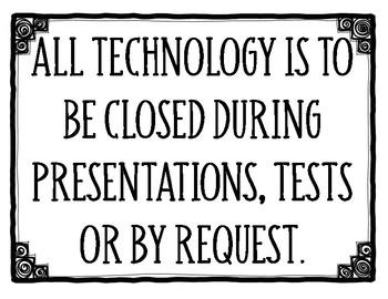Technology Usage Classroom Rules