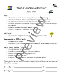 Technology Use Agreement