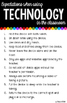 Technology Use Classroom Expectations Rules 11x17 Posters