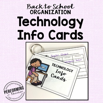 Technology Username and Password Cards