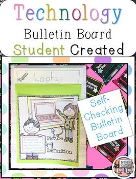 Technology Vocabulary Bulletin Board
