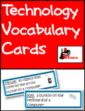 Technology Vocabulary Cards