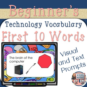 Technology Vocabulary Flash Cards