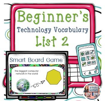 Technology Vocabulary Flash Cards Bundle