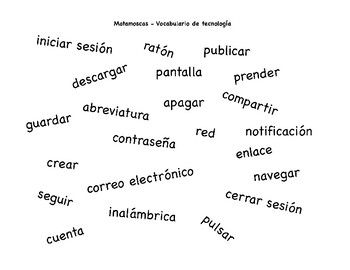 Technology Vocabulary Matamoscas Game