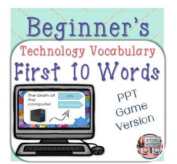 Technology Vocabulary PowerPoint Game Bundle