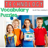 Technology Vocabulary Puzzles Printable and Digital Options