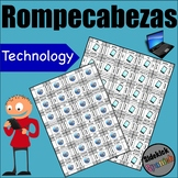 Technology Vocabulary Puzzles (computer, internet, cell phone)