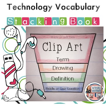 Technology Vocabulary Stacking Books