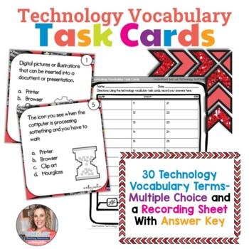 Technology Vocabulary Task Cards