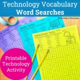 Technology Vocabulary Term Word Searches