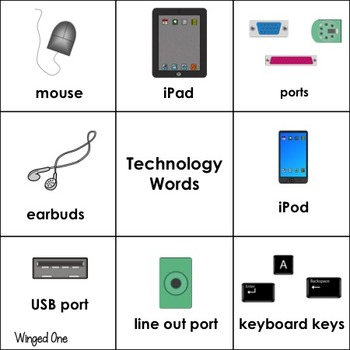 Technology Vocabulary Word Wall Words