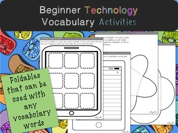Technology Vocabulary Worksheets