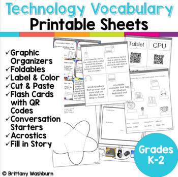 Technology Vocabulary Worksheets