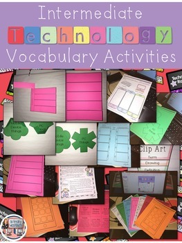 Technology Vocabulary Worksheets 3-5