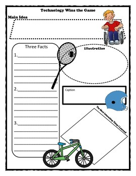 Technology Wins The Game Story Map Graphic Organizer