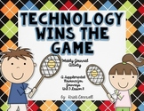 Technology Wins the Game  Journal Booklet  3rd Grade  Journeys