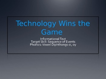 Technology Wins the Game PPT Journeys Lesson 11