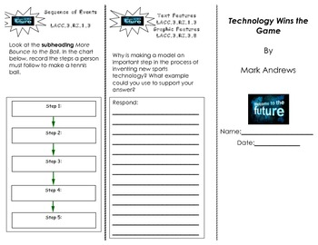Technology Wins the Game Trifold/ Unit 3 Journeys HMH