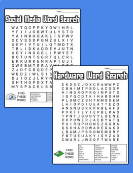 Technology Word Search Bundle