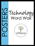 Technology Word Wall Posters Grades K-5
