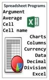 Technology Word Wall - Spreadsheet Programs