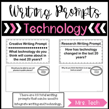 Technology Writing Prompts - Prompts Only