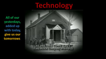 Technology Yesterday and Today ( animated/video clips)