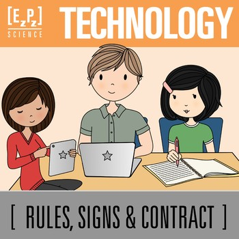 Technology and BYOD (Bring Your Own Device) Posters and Contract Combo
