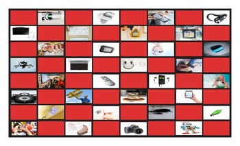 Technology and Gadgets Legal Size Photo Checkerboard Game