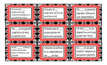 Technology and Gadgets Spanish Card Game