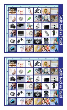 Technology and Gadgets Spanish Legal Size Photo Battleship Game