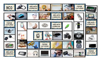 Technology and Gadgets Spanish Legal Size Photo Board Game