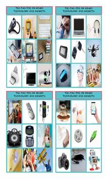Technology and Gadgets Tic-Tac-Toe or Bingo