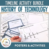 Technology and Inventions Timeline Posters, Powerpoint, Worksheet and Activities