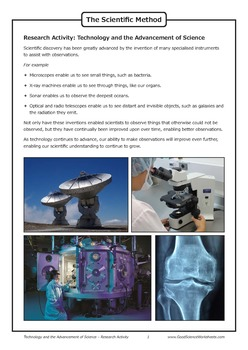 Technology and the Advancement of Science [Research Activity]