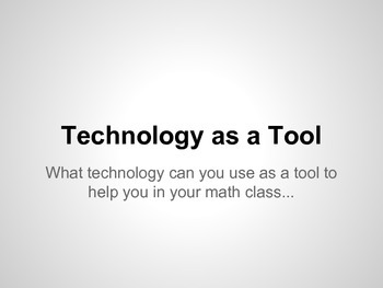 Technology as a Tool in Math
