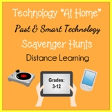 """Digital Distance Learning """"At Home"""" Technology Scavenger Hunts Activities"""
