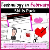 Technology in February Pack (Valentine's Day, President Lincoln, Rosa Parks Day)