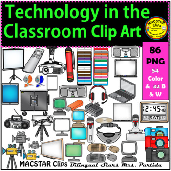 Technology in the Classroom Clip Art
