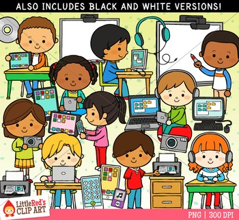Technology in the Classroom Clipart